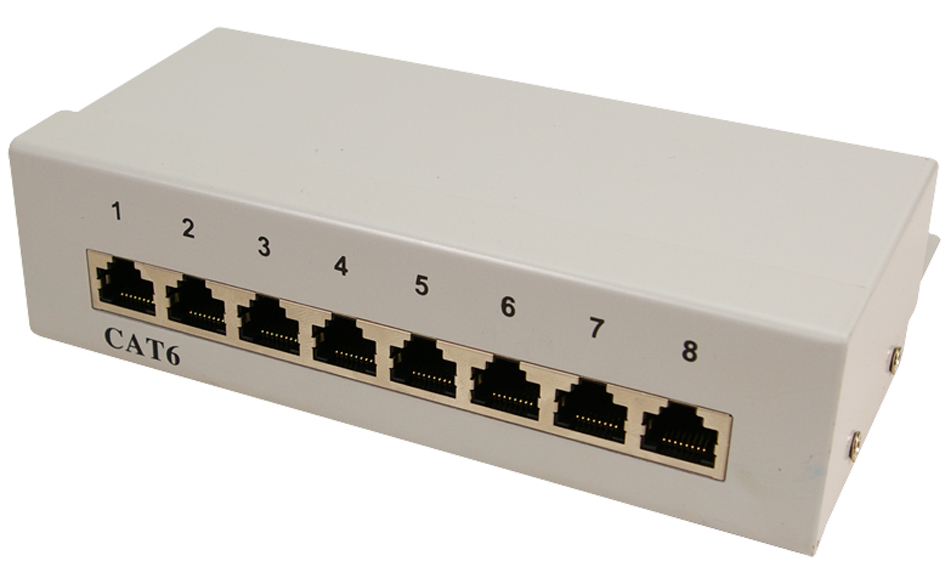 LogiLink Desktop Patch Panel Kat. 6, geschirmt,...