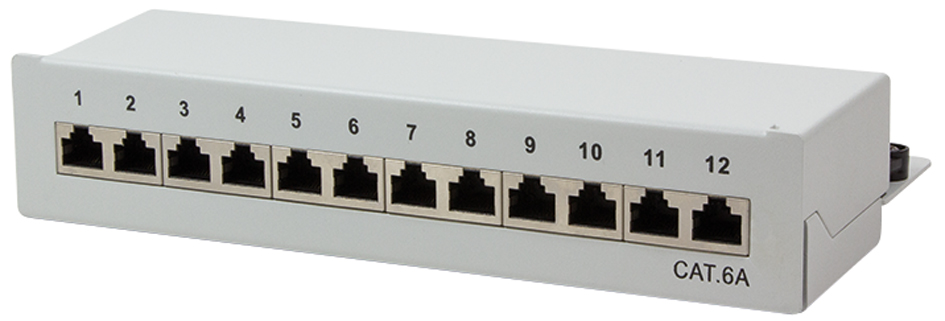 LogiLink Desktop Patch Panel Kat. 6A, 12-Ports,...