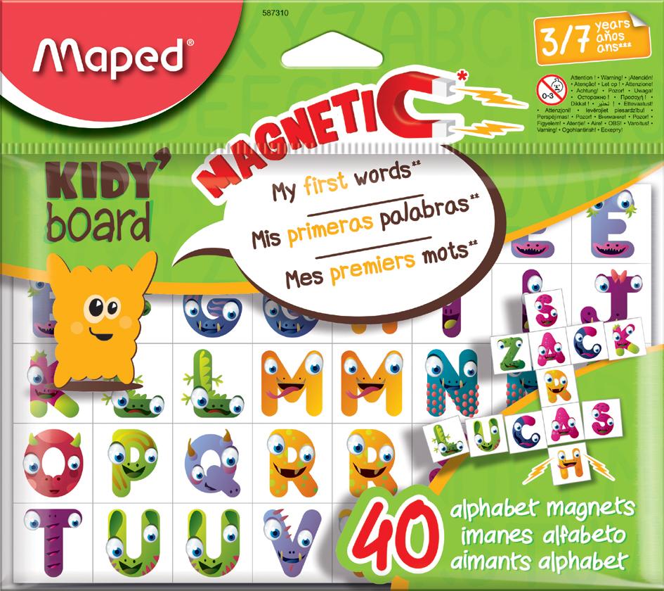 Maped Magnetplättchen KIDY board, Buchstaben