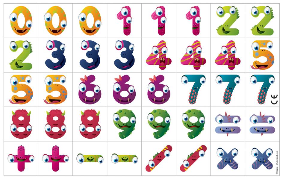 Maped Magnetplättchen KIDY board, Zahlen