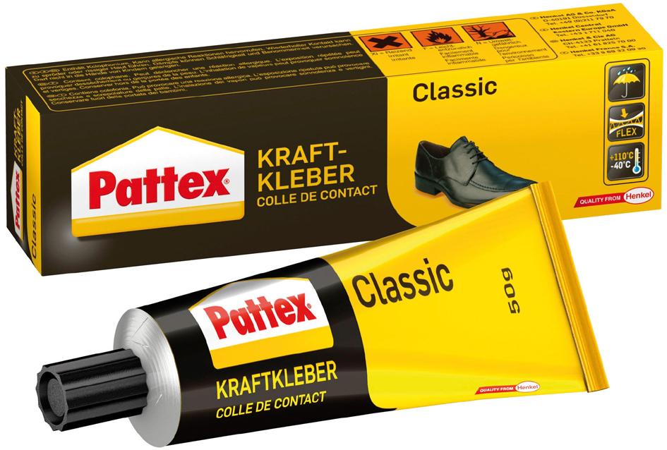 Pattex Kraftkleber Classic, lösemittelhaltig, 125 g Tube