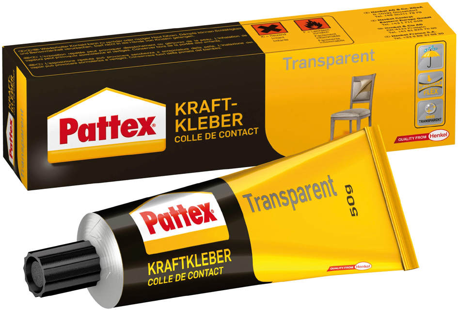 Pattex Kraftkleber Transparent, lösemittelhaltig, 50 g Tube