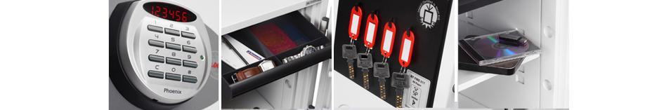 phoenix Dokumentenschutz-Tresor TITAN FS1281E, signalweiß
