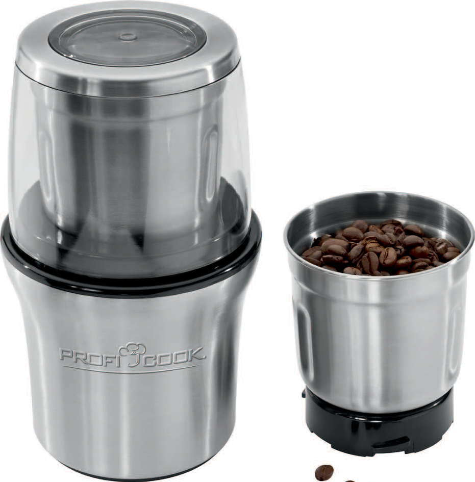 PROFI COOK Kaffeeschlagwerk PC-KSW 1021, silber