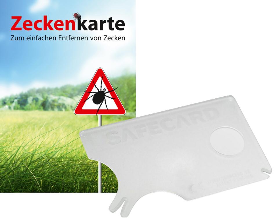 RNK Zeckenkarte ´Safecard´ mit Lupe, 85 x 54 mm