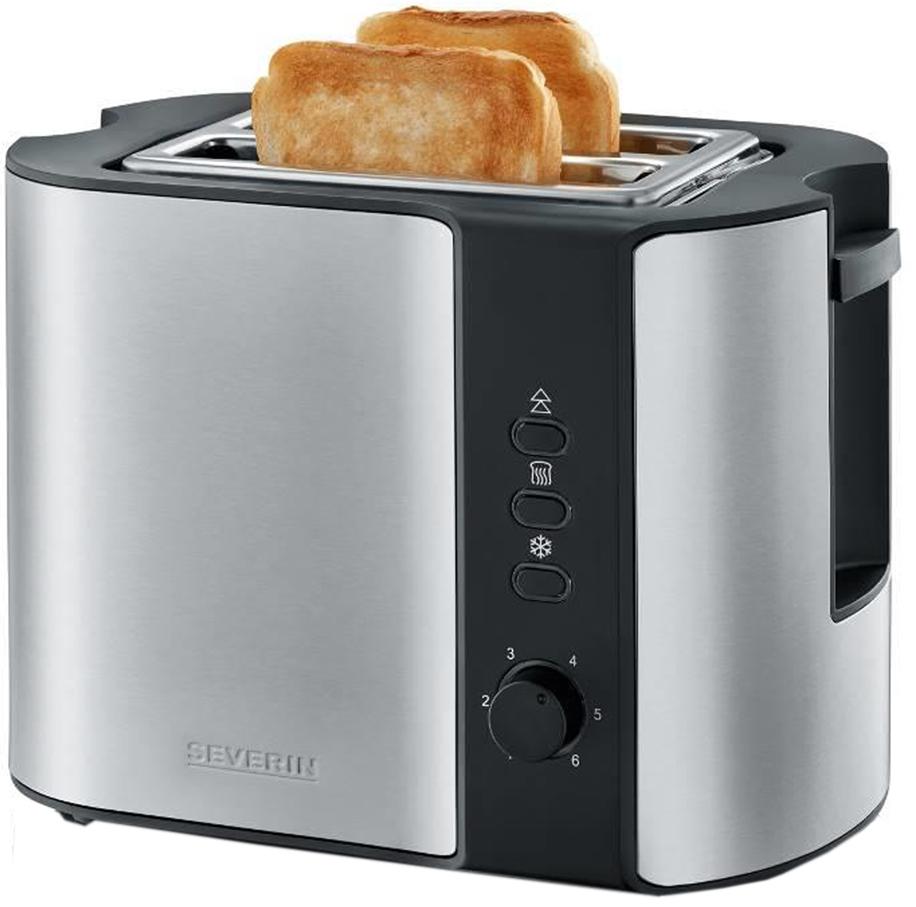 SEVERIN 2-Scheiben-Toaster AT 2589, Edelstahl / schwarz
