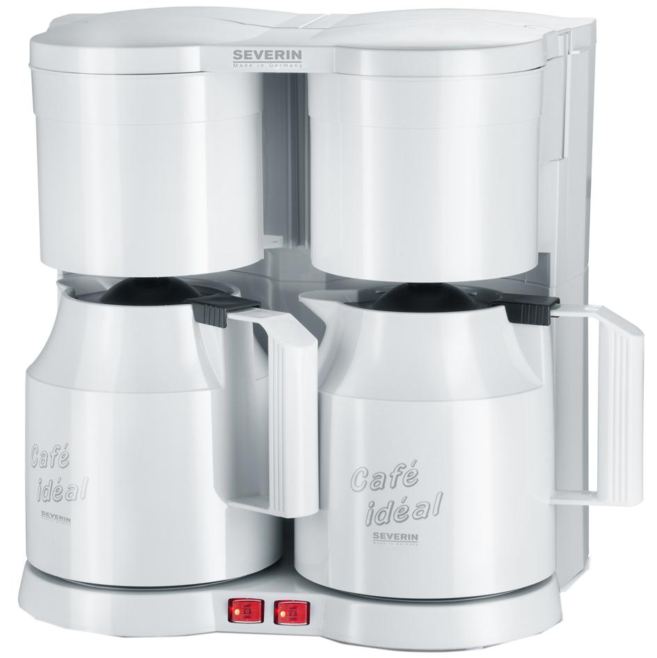 SEVERIN Duo-Kaffeemaschine KA 5827, mit Thermokannen, weiß