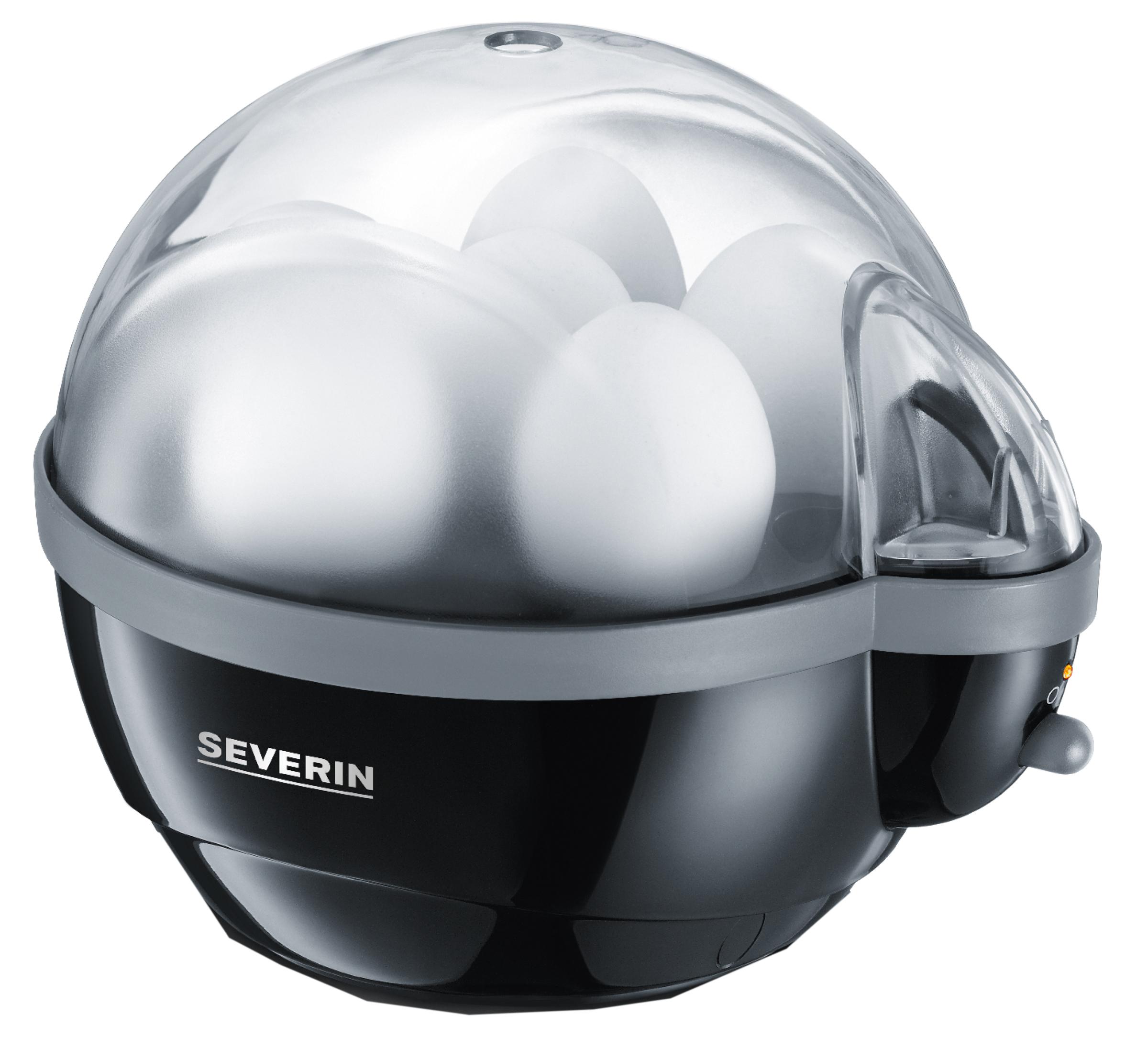 SEVERIN Eierkocher EK 3056, für 6 Eier, schwarz / grau