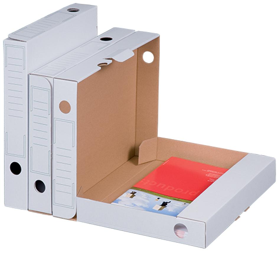 smartboxpro Archiv-Schachtel, weiß, Rückenbreit...