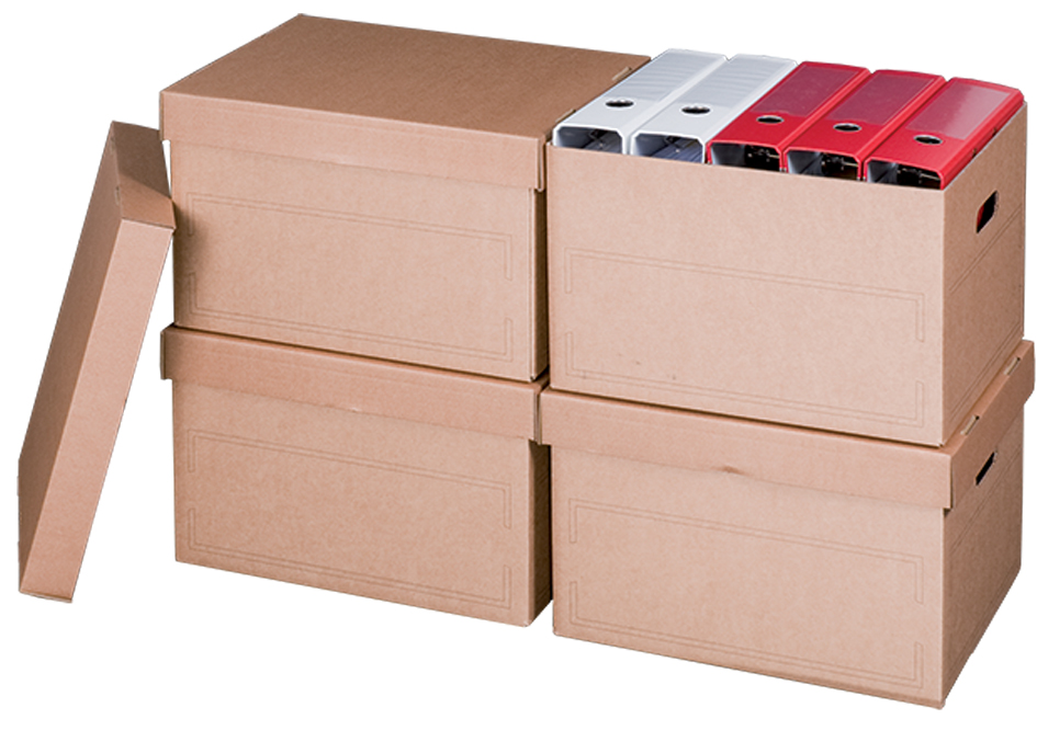 smartboxpro Archiv-/Transportbox, mit Deckel, b...