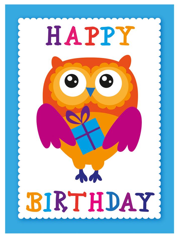 SUSY CARD Minikarte - Geburtstag ´Text mit bunt...