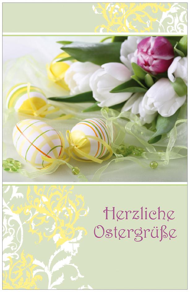SUSY CARD Oster-Grußkarte ´Eier & Tulpen´