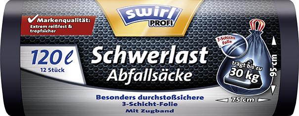 swirl Profi Schwerlast-Abfallsack, schwarz, 120...