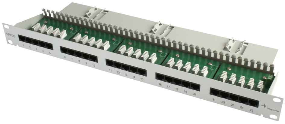 Telegärtner 19´ ISDN Patch Panel 50 ISDN RJ45 P...