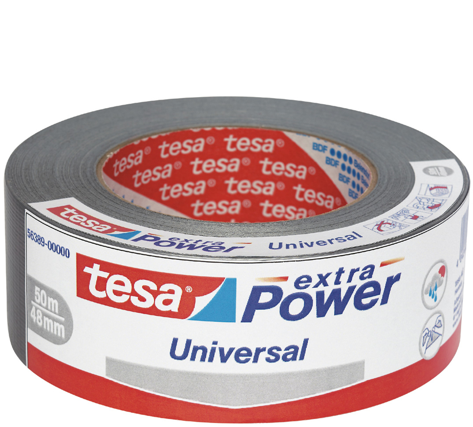 tesa Folienband extra Power Universal, 48 mm x 50 m, silber
