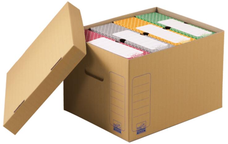 tidyPac Archiv-/Transportbox, braune Wellpappe