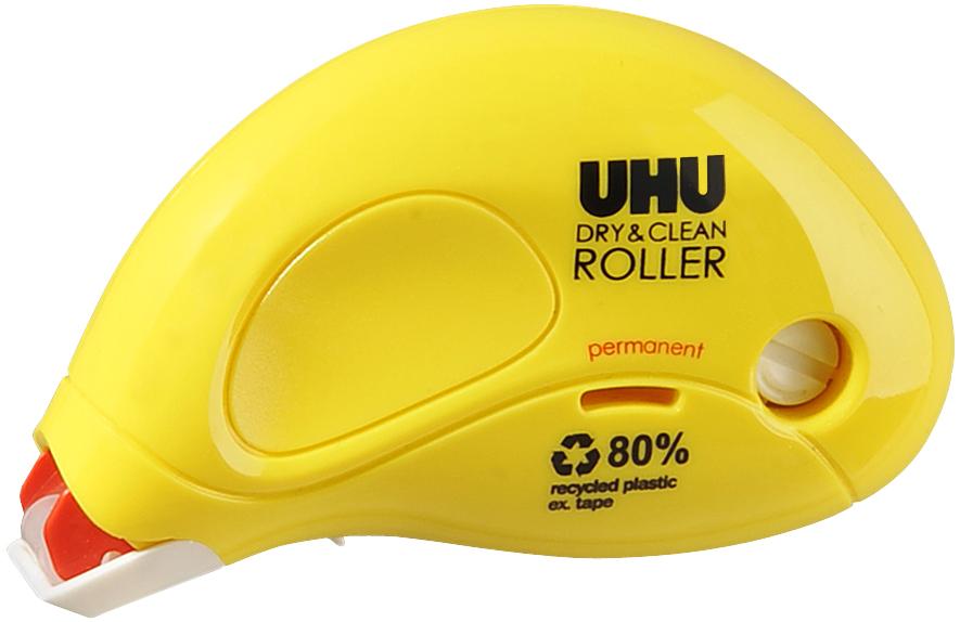 UHU Kleberoller Dry & Clean Roller, permanent