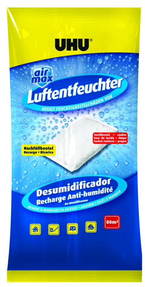 UHU Luftentfeuchter Nachfüllbeutel airmax, 1.000 g