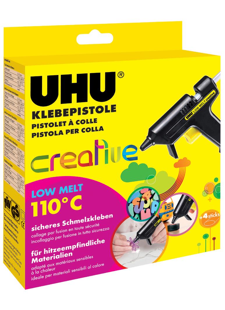 UHU Niedrigtemperatur-Klebepistole Low Melt Creative