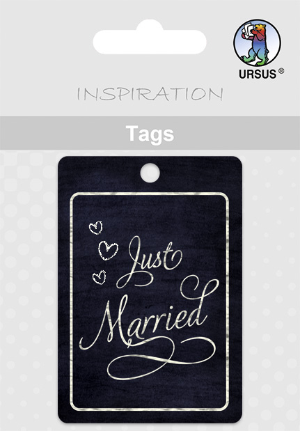 URSUS Anhängerkarte ´Tags´ - Hochzeit, ´Just Ma...