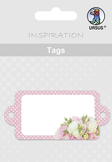 URSUS Anhängerkarte ´Tags´ - Hochzeit, ´weiße R...