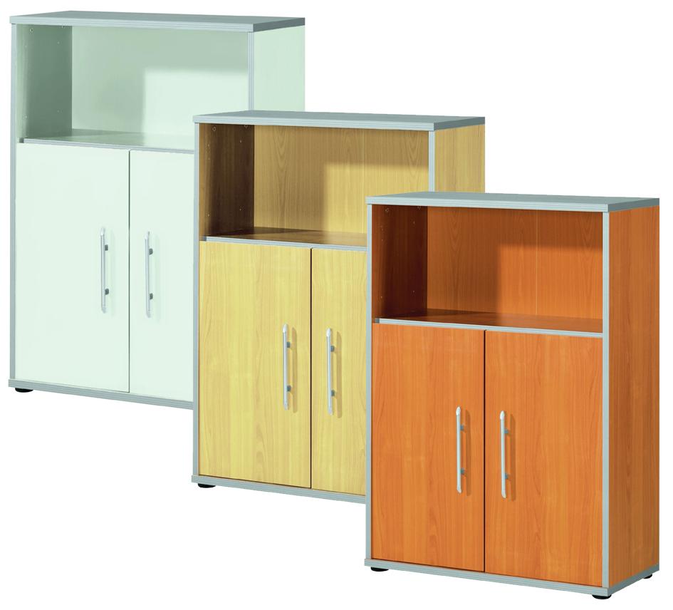 Wellemöbel Regalschrank ´TOOL´, 2 Böden, Office grau
