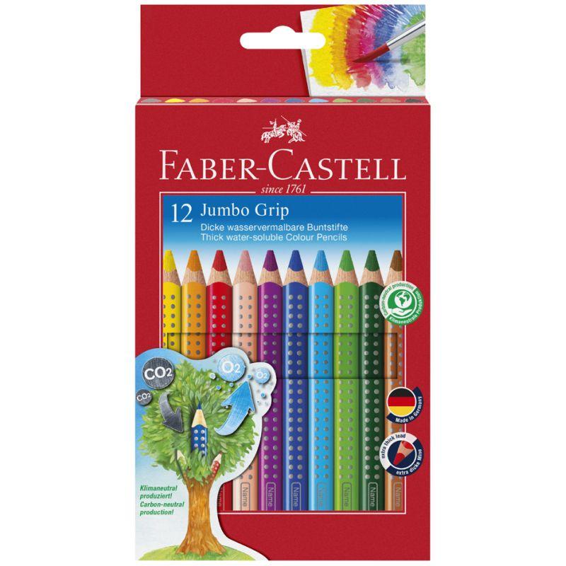 FABER-CASTELL Heft und Tafelstift Colour GRIP 6er Etui