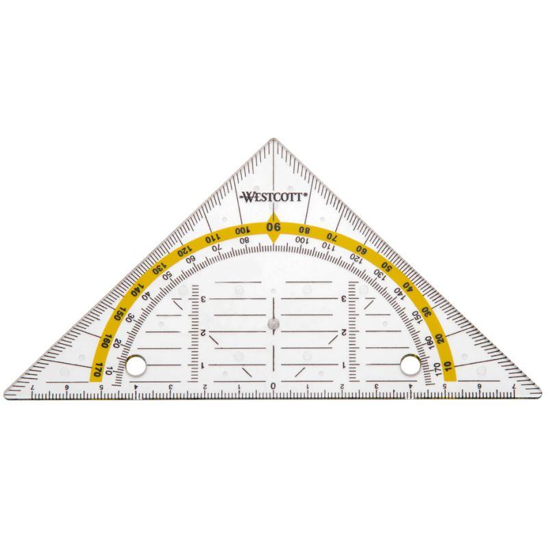Maped Zeichendreieck Geometric 60 Grad 320 mm Kunststoff transparent Geodreieck