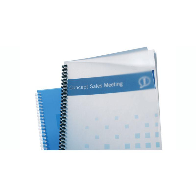 blau GBC Einbanddeckel HiGloss 250 g//qm DIN A4