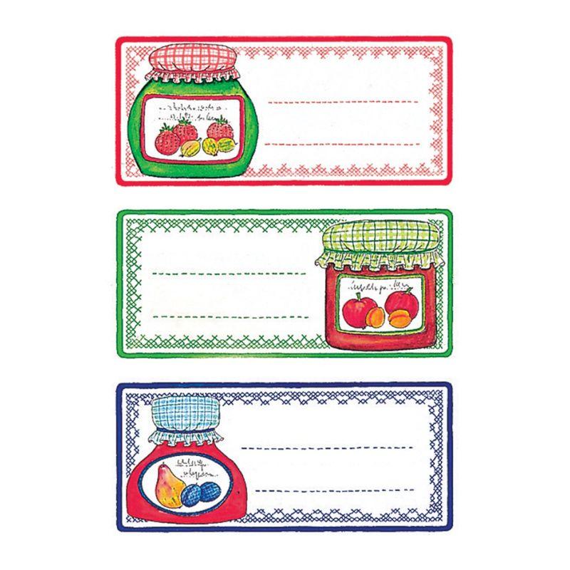 HERMA Haushalts-Etiketten Früchtekränze 76 x 35 mm bunt