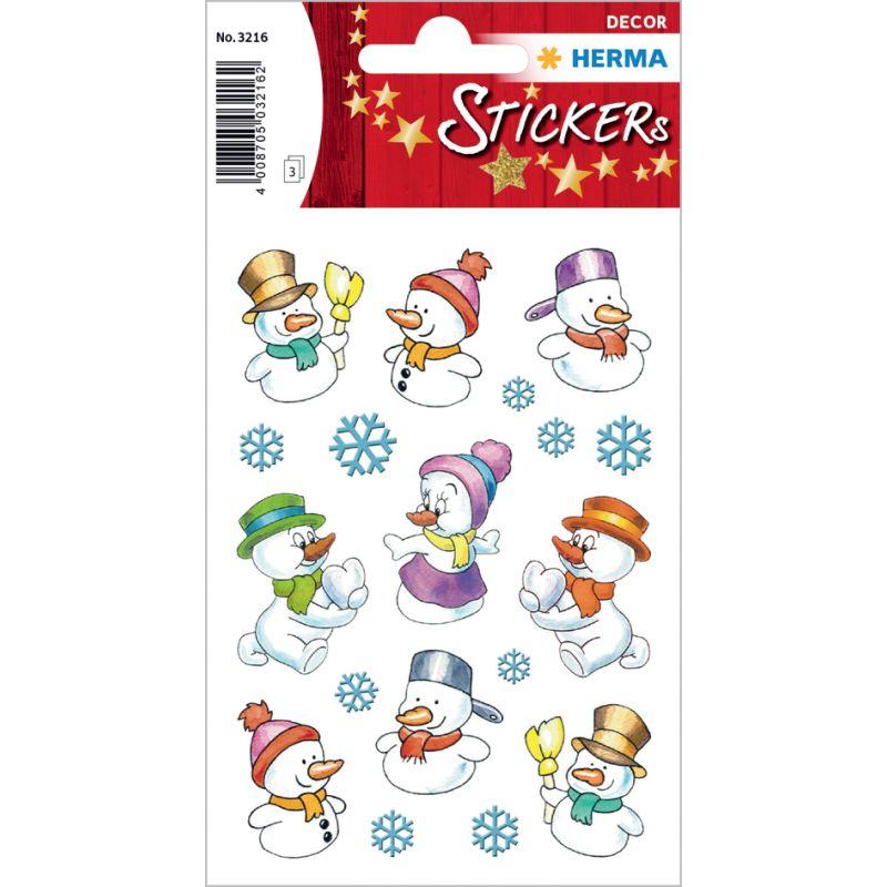 HERMA Weihnachts-Sticker DECOR \'Schneemänner\' (3216)