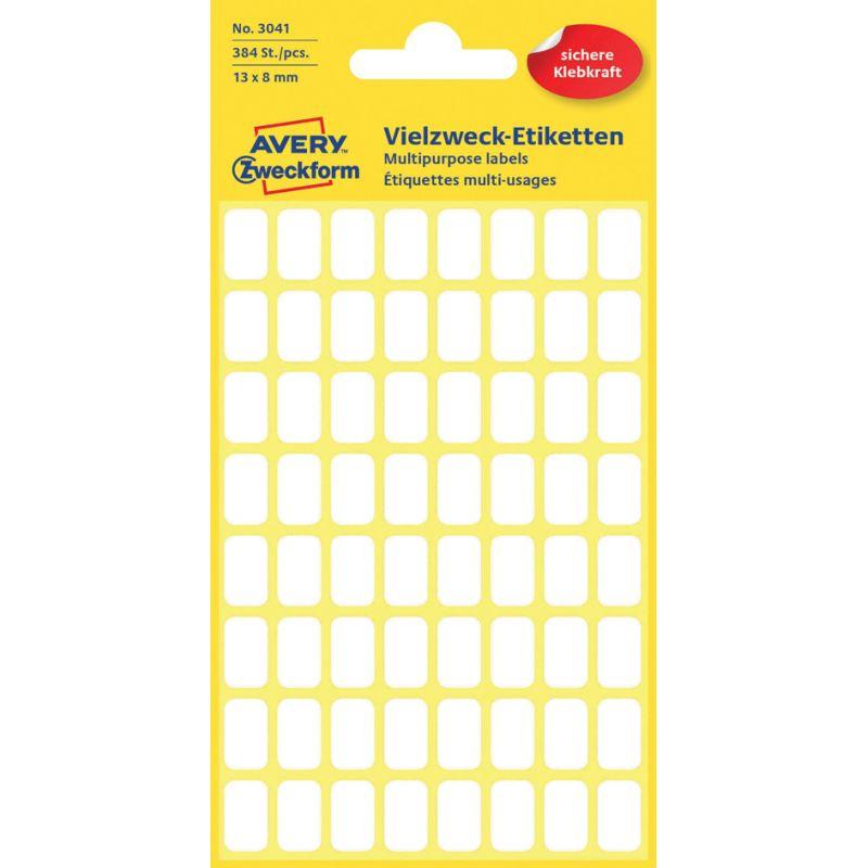 AVERY Zweckform Vielzweck Etiketten 22 x 18 mm weiß 120 Etiketten