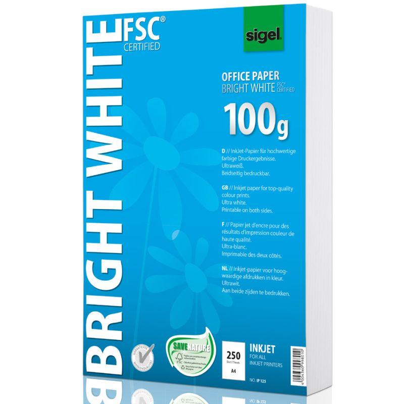 Sigel Inkjet Papier Bright White Din A4 100 G Qm