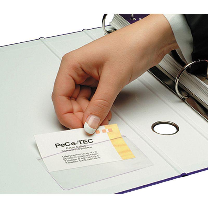 Sigel Visitenkarten Taschen Aus Pp Selbstklebend Glasklar