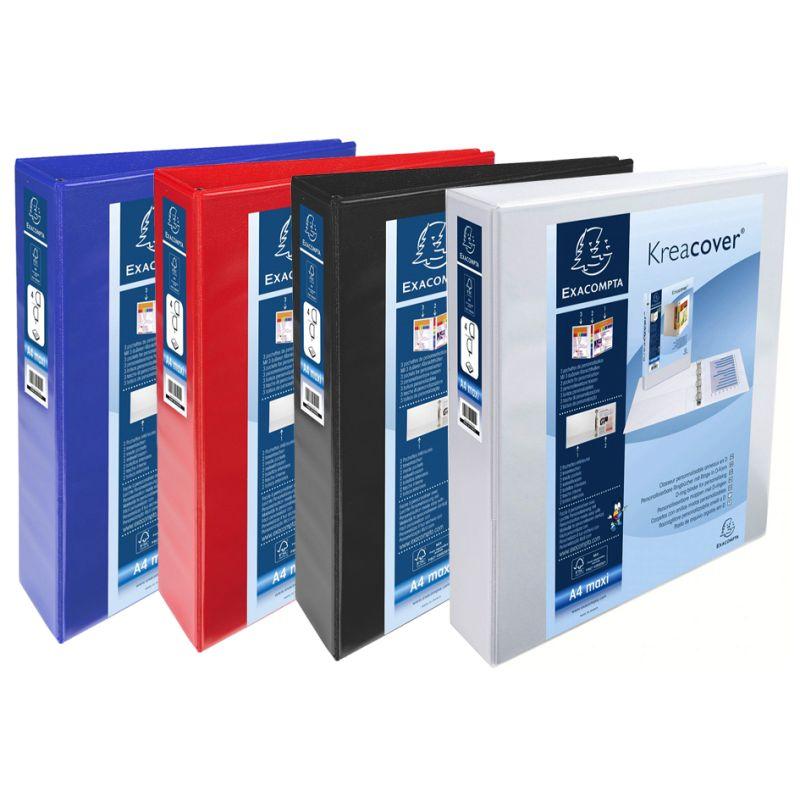 rot A4 Maxi 4D-Ring EXACOMPTA Präsentations-Ringbuch