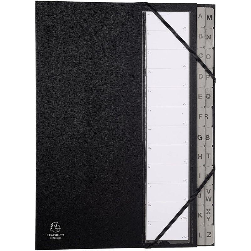 A4 Fächermappe Dokumentenmappe Ordnungsmappe 24 Taschen Fächer Gummizug Deckel