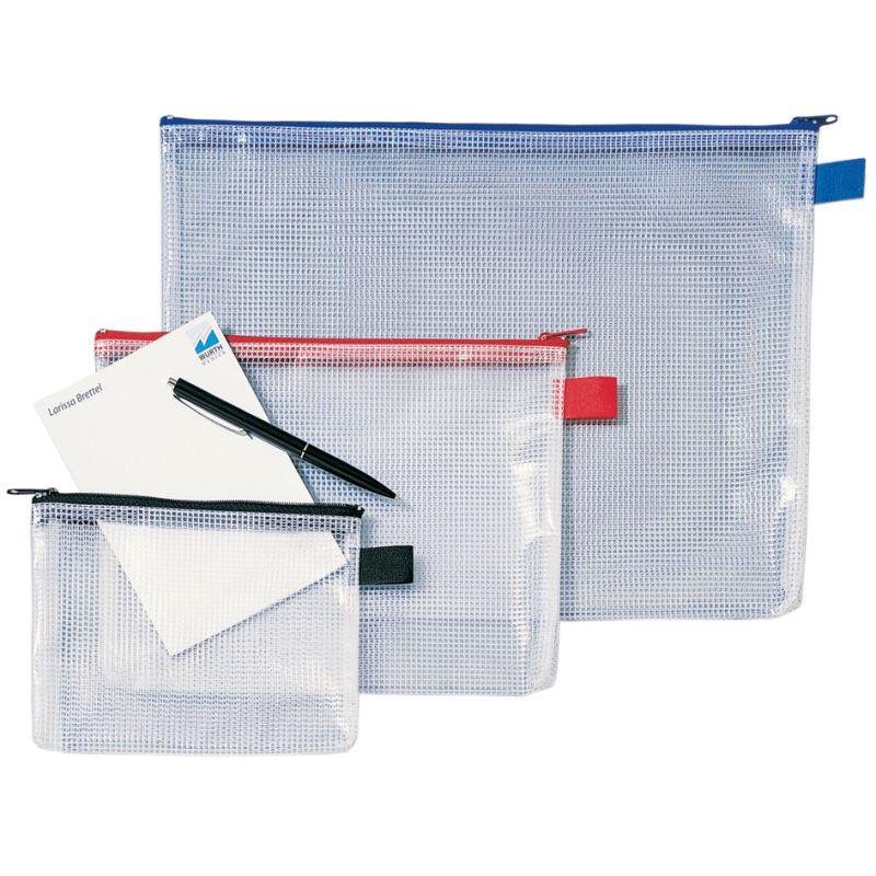 Rexel Reißverschlusstasche Mesh Bags Din A4 Pvc Schwarz 1300260