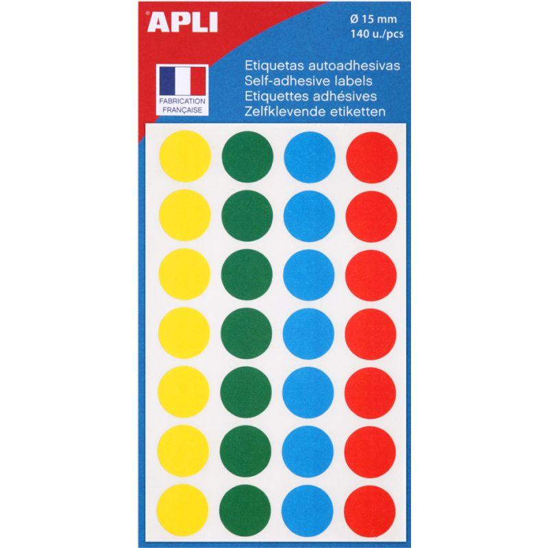 ø 19 mm gelb Inhalt agipa Markierungspunkte 90 Stück