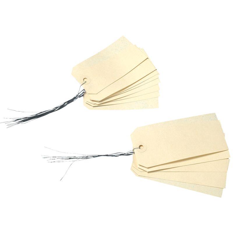 agipa Gepäckanhänger, 120 x 57 mm, neutral, mit Draht (101580)