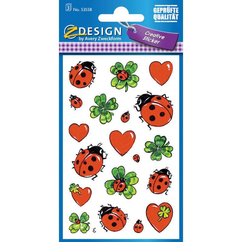 "AVERY Zweckform Z Design Sticker Creative /""Noten/"" 3 Blatt à 25 Sticker"