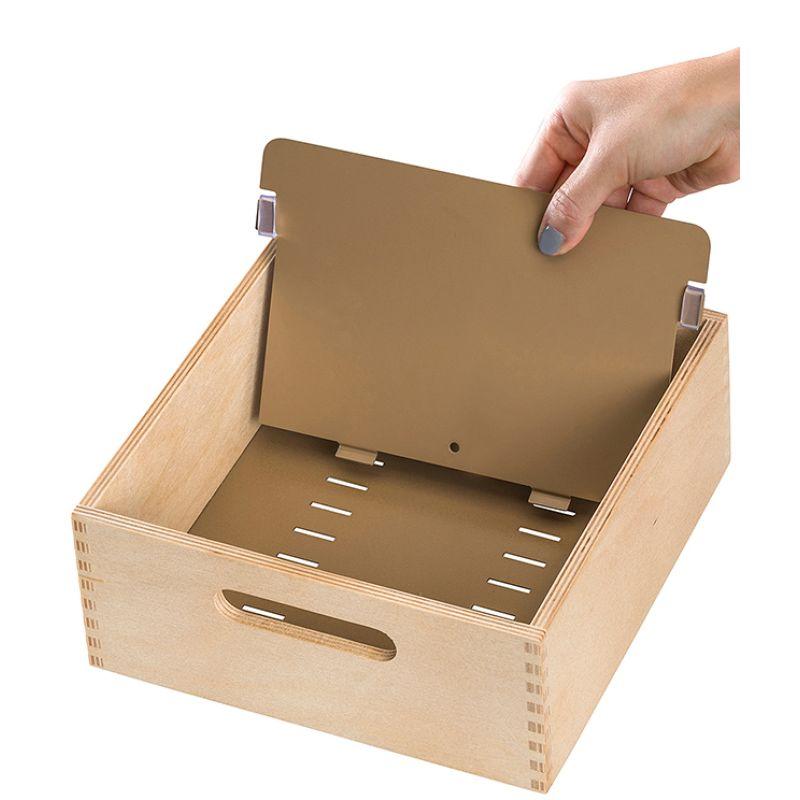 HAN Holz Karteikasten A5 quer für 1.000-1.500 Karten unbestückt
