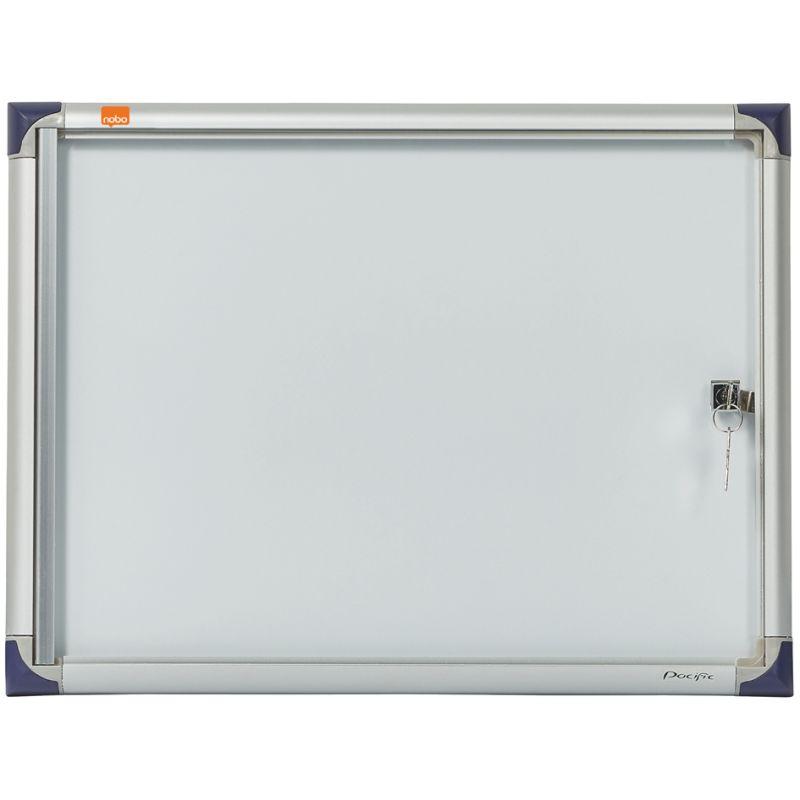 nobo Schaukasten extraflach Metall-Rückwand 6 x DIN A4 für den Innenbereich