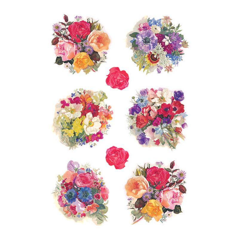 """HERMA Sticker DECOR /""""Blumen im Körbchen/"""""""