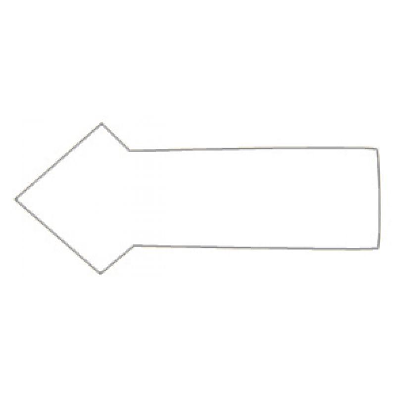 FRANKEN Magnetsymbol \'Pfeil\', 10 x 20 mm, weiß (M860 09)