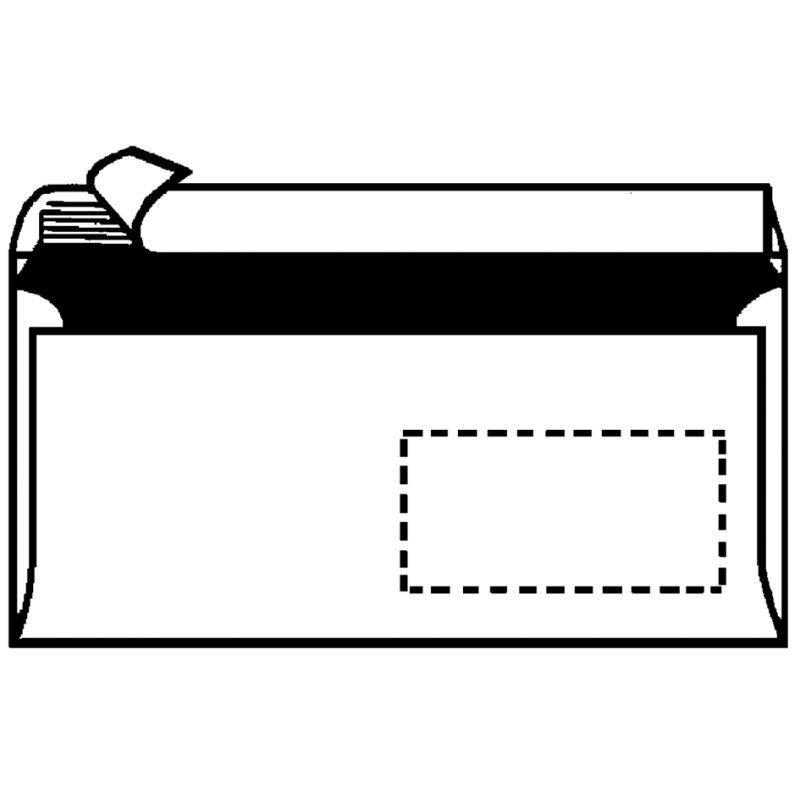 Herlitz Briefumschlag Din Lang Mit Fenster Weiß 10836344