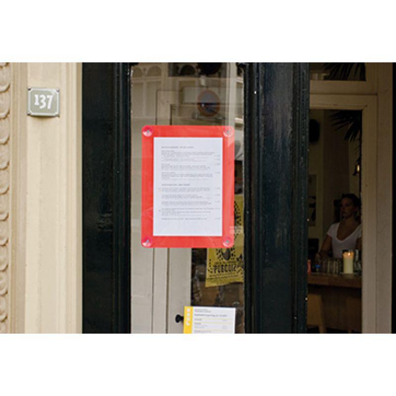 Securit Fenster-Plakatrahmen, DIN A4, rot (PFW-A4-RD)