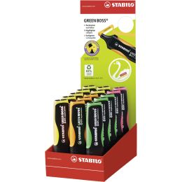 STABILO Textmarker GREEN BOSS, 15er Karton-Display
