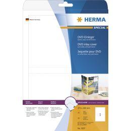 HERMA DVD-Einleger, für DVD-Hüllen, 183,0 x 273,0 mm, weiß
