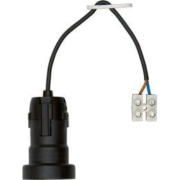 BACHMANN Leuchtenfassung E27 Kunststoff, mit Kabel 0,2 m