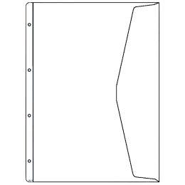 HETZEL Dokumenten-Prospekthülle, A4 Überbreite, PVC, 0,13 mm